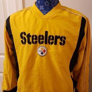 NFL Steelers V- neck Pullover (Med)